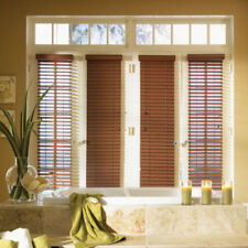 "SET OF 2 - 2"" FAUXWOOD BLINDS 9"" WIDE x 61"" to 72"" LENGTHS - 5 GREAT COLORS!"
