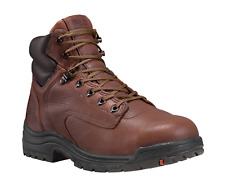 """Timberland Pro Series TITAN 6"""" WIDE Brown TB026063 SAFETY TOE Work Boots"""