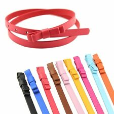 Women Belt Double layer bow Delicate PU Candy Color Bow Luxury Leather 13 Colors