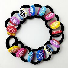 Kids Girls Elastic Hair Bands Bobbles Cartoon Lollipop Rubber Bands Hair Ponios