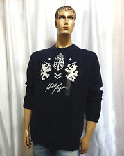 Tommy Hilfiger mens TH Holiday basic Lions Shield lambswool sweater L XXL NEW
