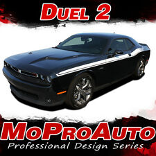 2015-2017 Dodge Challenger SXT R/T DUEL 15 Vinyl Graphics Decals 3M Pro Stripes