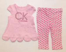 Calvin Klein Infant Girls 2pc Pants and Shirt Set Size 6-9 Months NWT