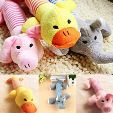 New Pet Puppy Chew Squeaker Squeaky Plush Sound Pig Duck Ball Funny For Dog Toy
