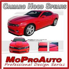 2010-2015 Chevy Camaro SS RS HOOD SPEARS Side Decals Stripe 3M Pro Series Vinyl