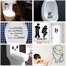 Durable Bathroom Toilet Decoration Seat Art Wall Stickers Decal Home Decor WH
