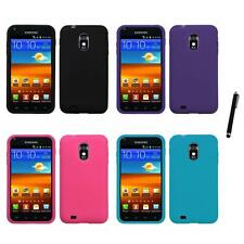 For Samsung Epic Touch 4G D710 Silicone Skin Rubber Soft Case Cover Stylus Pen