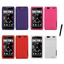 For Motorola Droid Razr XT912 Silicone Skin Rubber Soft Case Cover Stylus Pen
