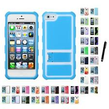 For Apple iPhone 5/5S/SE TPU Hard Case Skin Phone Cover Stylus Pen