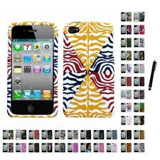 For Apple iPhone 4/4S Design Snap-On Hard Case Phone Cover Stylus Pen
