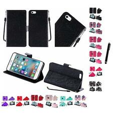 For Apple iPhone 6 (4.7) Wallet Case Pouch With ID Card Pocket Slots Stylus Pen
