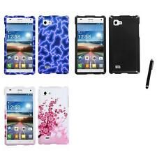For LG Optimus 4X HD P880 Design Snap-On Hard Case Phone Cover Stylus Pen