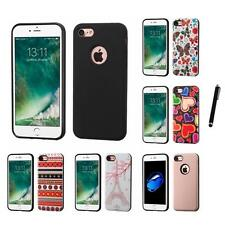 For Apple iPhone 7 [4.7] Hybrid Rugged Impact Hard Soft Case Cover Stylus Pen