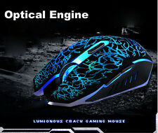 Maus Professional Optical 2400 DPI USB 2.0 Wired Gaming Mouse 6 Button Backlight