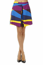 SPORTMAX CODE New Woman Multicolor Pleated Printed mini skirt NWT