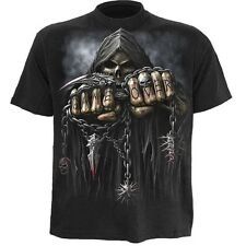 Game Over T-Shirt Front and Backprint 100% Cotton fantastic quality Biker Gothic