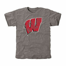 Wisconsin Badgers Gray Classic Primary Tri-Blend T-Shirt