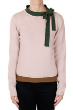 VALENTINO New Woman Pink virgin wool Cashmere Knitted Sweater made in Italy