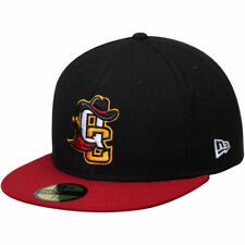 New Era Quad City River Bandits Black/Red Authentic Road 59FIFTY Fitted Hat