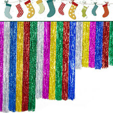 2x shimmer Foil Glitter Tinsel metallic backdrop Curtain Window   wedding party