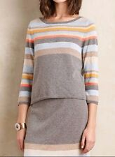 Anthropologie Striped Midi Pullover Sweater By Moth Sz M - NWT