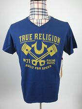 NWT Men's True Religion RACING PARTS SS V NECK TEE  T shirt  MSRP $62