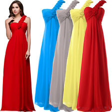 Chiffon Sexy Maternity One Shoulder Formal Long Bridesmaid Evening Party Dress