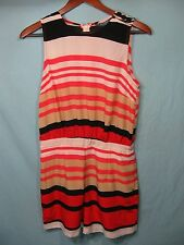 NWT Peter Som for Design Nation Peach, White, and Black Striped Romper