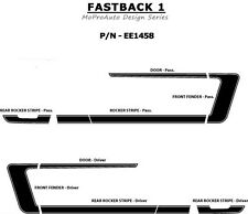 FASTBACK 1 Mustang Vinyl GRAPHICS Stripes Decal - 3M Pro Grade 2006 604