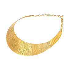 Stainless Steel 18K Gold Plated Geometric Pattern Choker Necklace Women Jewelry