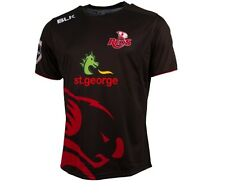 Queensland Reds BLK 2016 Super Rugby Players Warm Up Shirt Size S-3XL! BNWT's!