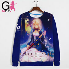 Cosplay Costume Unisex Coat Fate stay night saber Hoodie Long Sleeve Sweater