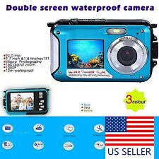 WATERPROOF DOUBLE SCREEN HD DIVE 10M DIGITAL VIDEO CAMERA 1080P DV UNDERWATER