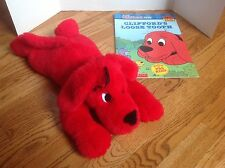 "Clifford the Big Red Dog  21"" PLUSH by Scholastic & BIG BOOK  CLEAN & CUTE!"