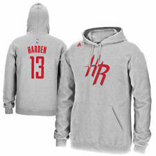 adidas James Harden Houston Rockets Gray Name & Number Pullover Hoodie
