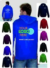 Custom Printed Zip Hoodie Unisex Personalised Stag Hen Workwear Event Hoody