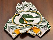 NIKE VAPOR 3.0 JET NFL RECEIVER GLOVES GREEN BAY PACKERS GREEN YELLOW WHITE