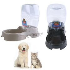 Automatic Pet Feeder Cat Dish Waterer Animal Food Bowl Dog Auto Dispenser New