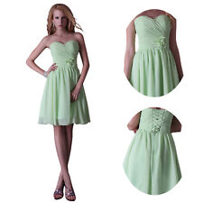 Strapless Chiffon Bridesmaid Party Evening Cocktail Short Prom Gown Dresses SALE