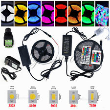 5M SMD 3528 5050 5630 300LEDs RGB White LED Strip Light 12V Power Supply Adapter