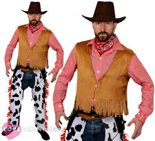 COWBOY COSTUME ADULT MENS WILD WEST SHERIFF FANCY DRESS WESTERN RODEO COW BOY
