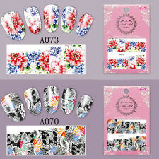1 Sheet Nail Art Water Decal Flower Transfer Full Sticker Decoration A073/A070