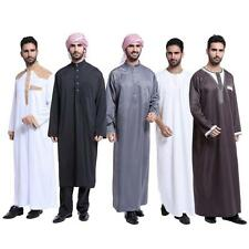 Men Saudi Thobe Galabeya Thoub Abaya Dishdasha Arabic Kaftan Muslim Dress New