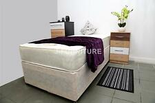 Plain Single 2ft6/3ft Divan Bed In Cream Colour And Mattress Of Your Choice!