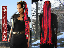 DREADLOCKS Goth dread falls WITCH RED BLACK hair piece LIGHTWEIGHT WICCA DREADS