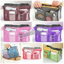 Dual Organizer Insert mp3 phone Cosmetic Storage Nylon Tote Bag in Bag Handbag Y