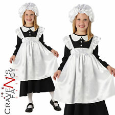 Child Victorian Maid Costume Poor Girl Book Day Week Fancy Dress Kids Girls New