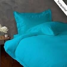 TURQUOISE SOLID BED SHEET SET 800 TC 100% EGYPTIAN COTTON SELECT YOUR SIZE