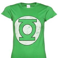 Green Lantern - Distressed Logo Ladies Fit T Shirt Size:M - NEW & OFFICIAL