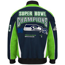 NFL Men's Seattle Seahawks Super Bowl Champion Cotton / Twill Jacket